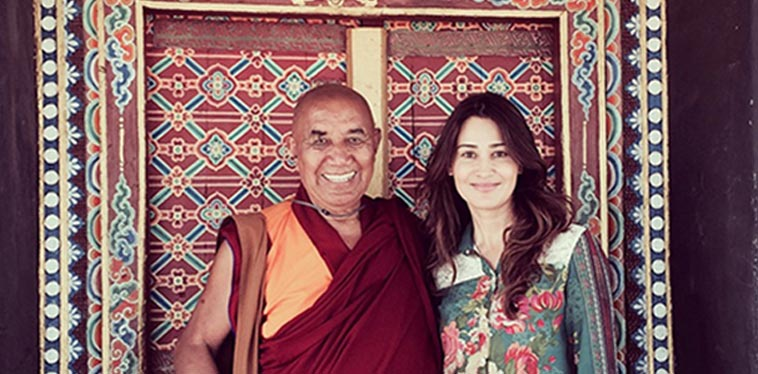 Suzy Franczak Davis is a film producer and Board Secretary of the Himalayan education charity the Siddhartha School Project in Ladakh, India. Photo of Suzy Franczak Davis and Khensur Rinpoche Lobzang Tsetan.