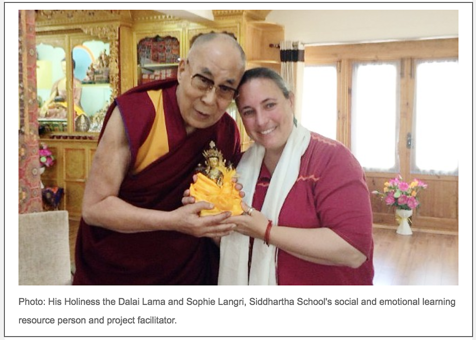 Siddhartha Will Be Featured in a Presentation to the Dalai Lama